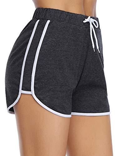 iClosam Pantaloncini Basic Shorts Donna Elastici in Vita Shorts Sportivi Pants