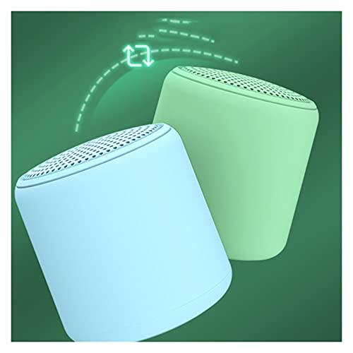 QPLKL Altavoces Bluetooth Altavoz portátil Bluetooth Mini Altavoz Ligero para baño de Ducha Coche de Bicicleta Portátiles Portátiles Altavoces de Video Amplificación de Sonido (Color : Matcha Green)