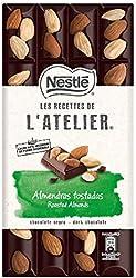 Nestlé Les Recettes De L'Atelier Chocolate Negro Con Almendras, 170g