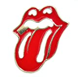Lilie Créa - Pines esmaltados con boca, rojo y labios, lengua Rolling Stones, alfileres de pino, con diseño de boca, color rojo
