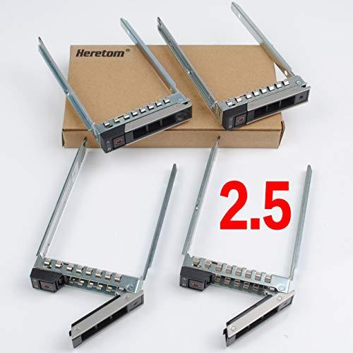 Heretom 4-PACK 2.5 pulgadas 14a generación DXD9H Bandeja de discos Caddie HDD Tray Caddy SATA SAS para Dell XC640-4 XC6420-6 R340 R440 R640 R740 R740xd R840 R940 R940xa R6415 R6515 R7415 R7525