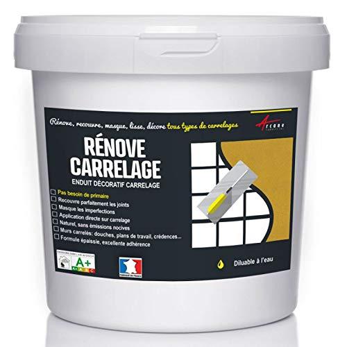 Putz für Fliesen - Fliesen verputzen - Betonbeschichtungs-Effekt - RENOVE CARRELAGE - curry - Kit 10kg - 6.5m² für 2 Schichten