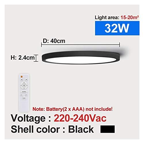 Moderno, Moderno control remoto LED Luz de techo 32W 36W 45W 220V Sala de estar Cocina Dormitorio Baño RC Lámpara de techo regulable para sala de estar, dormitorio, pasillo y más