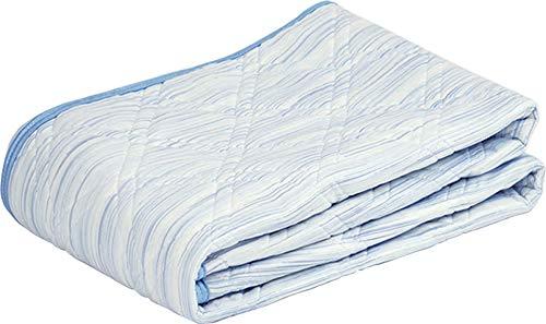 ロマンス小杉アイス眠ex麻敷きパッドかすり調シングルサイズブルーアイスミンEX麻敷パッド3131-6610(kasuriブルー,シングル)