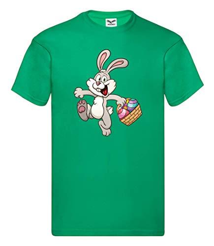 T-Shirt - Kaninchen Cartoon Eierkocher Bunt - Tshirt Unisex für Kinder - Jungen und Mädchen