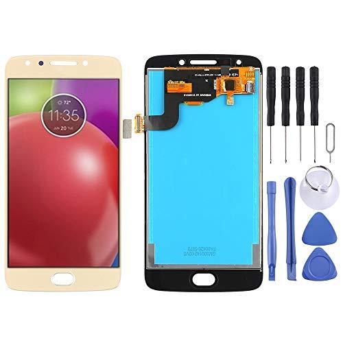 Cellphone Replacement Parts Repuestos para celulares iPartsBuy para Motorola Moto E4 XT1763 XT1762 XT1772 Pantalla LCD + Pantalla táctil Repuestos para celulares (Color : Oro)