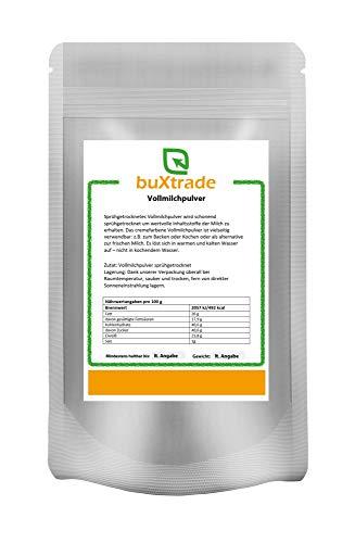 2x 500 g | Vollmilchpulver | sprühgetrocknet | Backen | Milchpulver