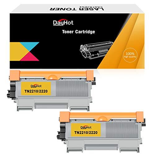 Dayhot TN2210 2220 Kompatible Tonerkartusche für Brother HL-2220 HL-2240 HL-2240D DCP-7060D HL-2250DN MFC-7460DN HL-2270DW MFC-7360N MFC-7860DW DCP-7065DN(2 Schwarz)