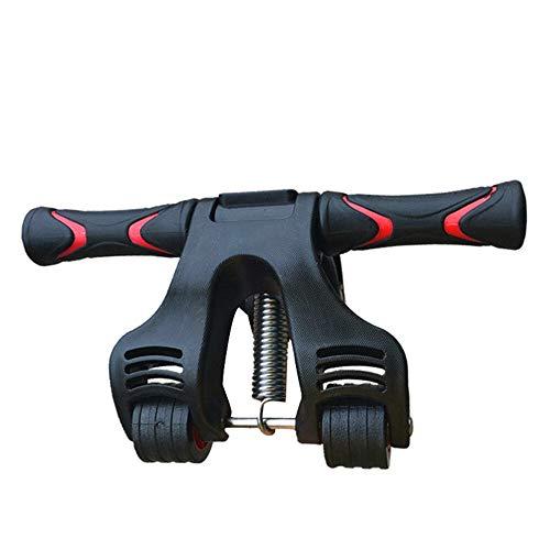 QWLHZW Tongqiang Faltbare Bauch Roller, Muskeltrainer, DREI Runden Aktualisiert Gym Fitnessgeräte, Anti-Rutsch-Hüft- und Beinübung, Fat Burning, Muskelübung, perfekte Fitness (Color : Black)