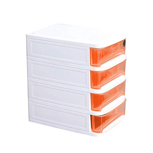 LIZANAN Estante de periódicos para mesa de oficina, para almacenamiento de periódicos, estante para periódicos, tipo de cajón, dormitorio, baño y estante diverso azul (color C1, tamaño: 4 capas)