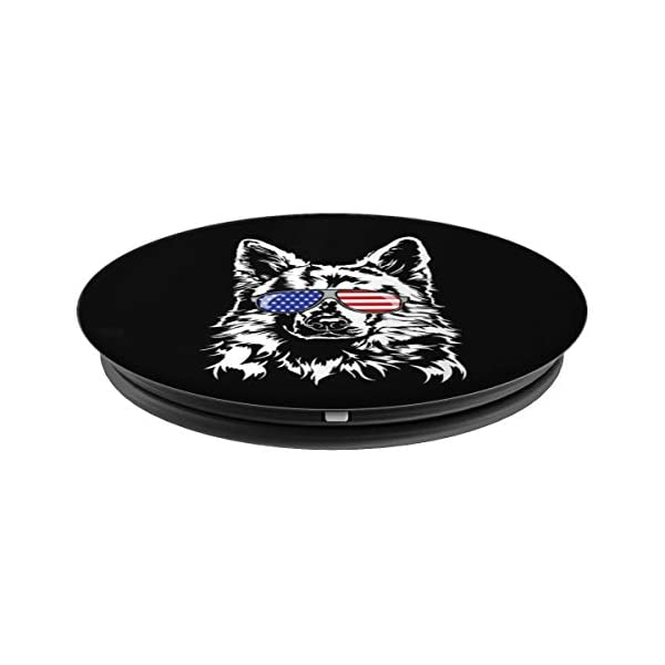 Funny Proud White Swiss Shepherd Dog American Flag gift dog PopSockets Grip and Stand for Phones and Tablets 2