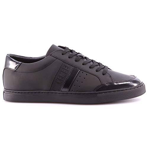 Scarpe Uomo Sneakers BIKKEMBERGS BKE108239 Soccer Rubber Leather Black Nere New