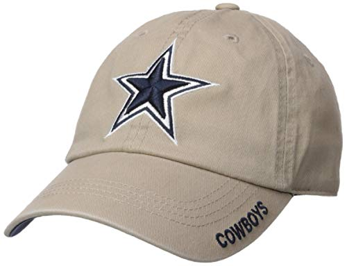 NFL Dallas Cowboys Mens Basic Slouch Cap, OSAFA, KHA