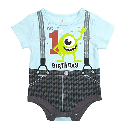 Disney Baby Boy's 1st Birthday Creeper: Mickey, Donald, Goofy, Monsters Inc, Winnie the Pooh, Toy Story or Lion King Simba