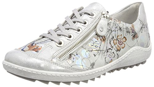 Remonte Damen R1402 Sneaker, Mehrfarbig (Ice/Offwhite-Metallic 90), 39 EU