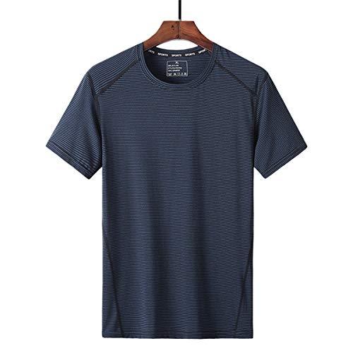 pour des Hommes Gym T-Shirt D'entraînement Dessus à Séchage Rapide Respirant Manches Courtes Wicking Fitness Soie De Glace Col Rond T-Shirt De Course Été T-Shirt De Sport,B,5XL