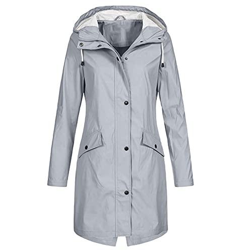 Damen Jacket Softshelljacke Damen Wasserfeste Softshellmantel Übergangsjacke Gefüttert Wasserdichter Reitjacke lang Winter Outdoorjacken Sportjacken