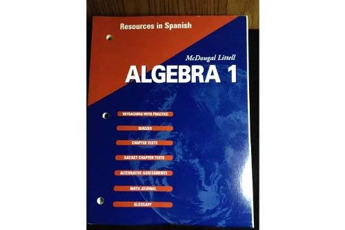 McDougal Littell High School Math: Resources in Spanish Algebra 1 [Taschenbuc...