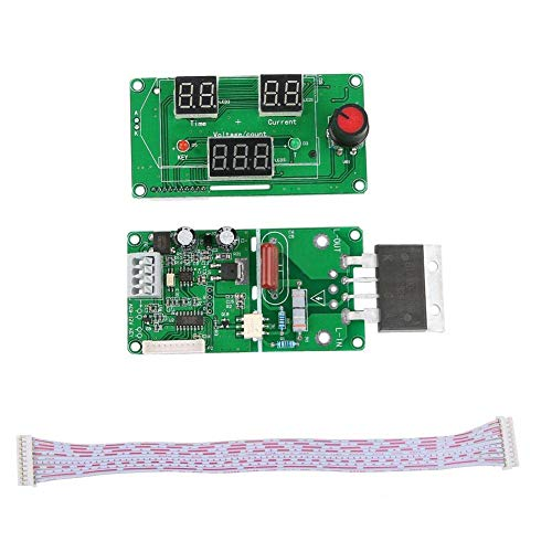 Nologo YO-TOKU Spot welder, Digital LCD Single Pulse Encoder Spot Welder Machine Time Control Board for Welding(#2) Modules CE