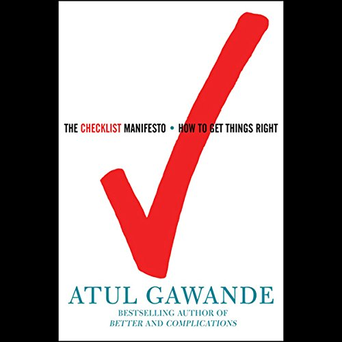 The Checklist Manifesto audiobook cover art