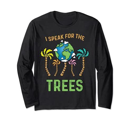 Hablo por los árboles Día de la Tierra Salvar la Tierra Inspiración Hippie Manga Larga