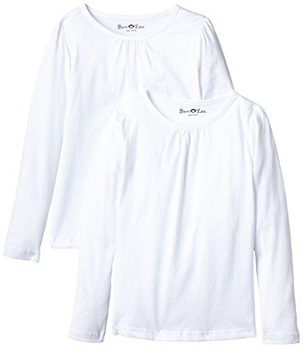 Latupo GmbH (Apparel) Ben & Lea Mädchen Langarmshirt, 2er Pack, Gr. 86 (Herstellergröße: 86/92), Weiß