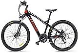 Bici electrica, 27.5' Electric Trekking/Bicicleta de Ruta, Bicicleta eléctrica de 48V con / 17Ah Agua y al Polvo de Litio-Ion, Bicicleta eléctrica Trekking for recorrer (Color : Red)