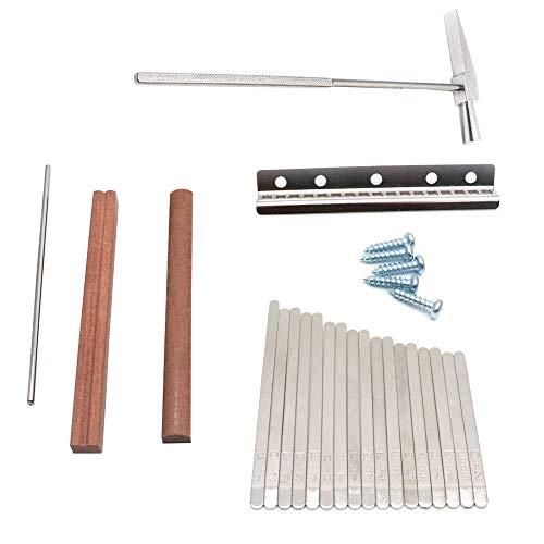 Apofly DIY Kalimba Daumenklavier Accessorie Thumb Piano Keys Kit DIY Kalimba Accessorie Timiy 17 Schlüssel-Austausch-Kit für DIY Kalimba Mbira Daumenklavier
