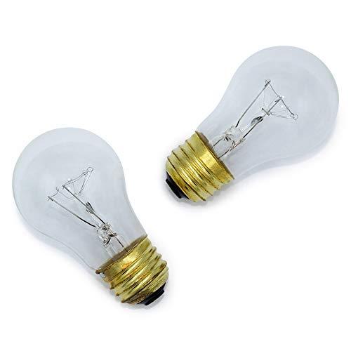 "40 Watt Lava Lamp Bulb Replacement and 40W 120V/130V Appliance Bulb by Lumenivo – 40 Watt A15 Incandescent E26 Base – 16.3"" Lava Lamp, Oven Light, Range Hood Light, 40W Refrigerator Bulbs – 2 Pack"