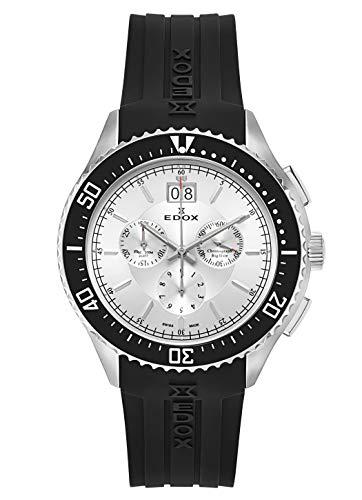 Edox herenhorloge C1 chronograaf grootdatum analoog kwarts 10026 3CA AIN