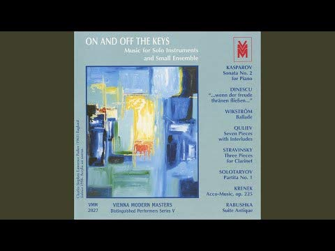 Kasparov / Dinescu / Wikstrom / Quliev / Stravinsky: On & Off the Keys - Music for Solo Instruments and Small Ensemble