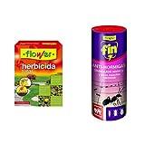 Flower Herbafin36 Herbicida Total, Transparente, 11x4x15 cm + 20532 20532-Anti-hormigas granulado, No Aplica, 14.5x5.5x14.5 cm