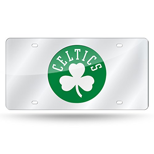 NBA Rico Industries Laser Inlaid Metal License Plate Tag, Boston Celtics