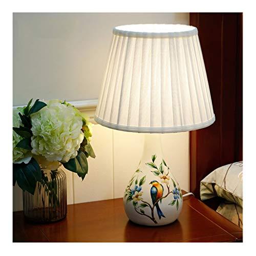 Lampe de table F lampe de table Résine rural Creative Mariage chambre de mariage décoration LED lampe de chevet (Couleur : B)