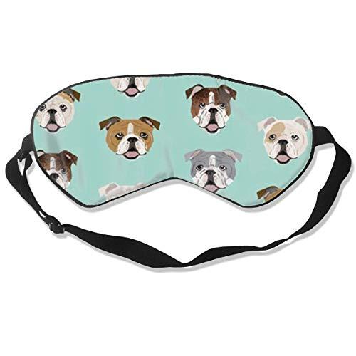 Premium Super Zacht Ademend Oogmasker met Verstelbare Band - Suikerschedelrozen - Licht Blokkerend Slaapmasker voor Reizen, Nap, Yoga, Meditatie Eén maat Stom grappige Engels Bulldog