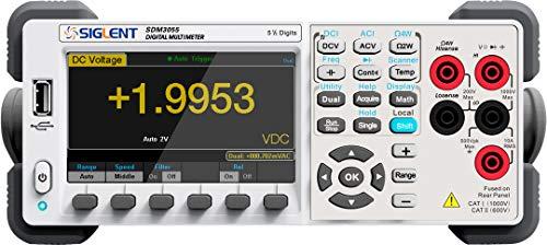 Siglent sdm3055precisión escritorio multímetro digital ac/dc volt Amp Hz Temp