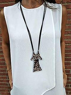 Collar vestido, pieza exclusiva – Animal Print – LEO. Regalo original para mujer. Envío GRATIS