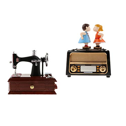 Homyl Ballerina Piano Music Box Toy Hand Crank Musical Box Anniversaire Mariage Gift Decor - Noir