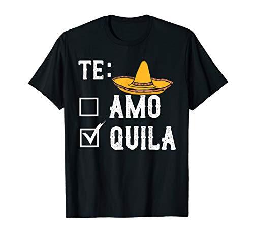 Tequila Shirt Mexikanischer Schnaps Sombrero Teamo Party T-Shirt