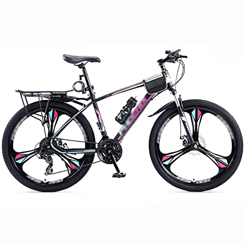 24/26/27.5 Inch Variable Speed Bicycle, Off-road Mountain Bike Bicycle Bicycle Adult Student(Color:Three knife wheels-blue and purple)