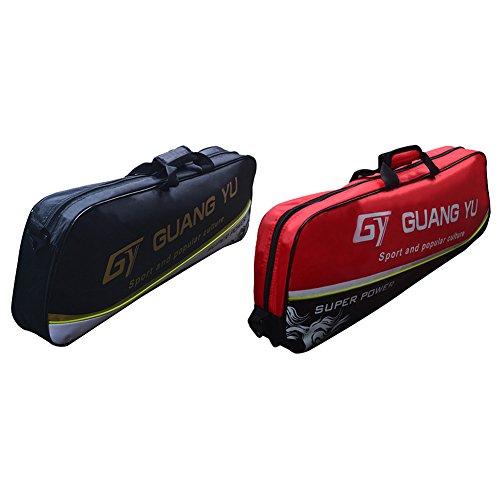 SueSupply Badmintonschläger hülle Racketbag Unisex Badmintonschläger Tasche Einheitsgröße Badminton Racket Cover Case 71 * 8 * 25cm,Schwarz