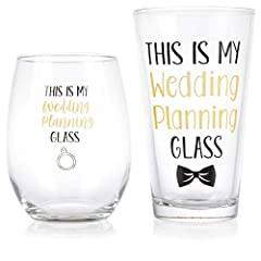 SOCIAL MEDIA TRENDY DESIGN: Gelid gifts for newlyweds/mugs couples gift set will help you create an amazing Facebook, Twitter, & Instagram social media photo album with pre-wedding and honeymoon pictures showing off the adorable wedding planning glas...