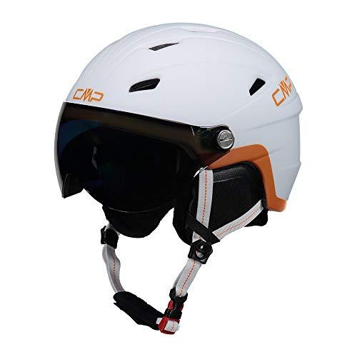 Cmp Casco Da Sci E Snowboard Wy-2, Unisex Bambini, Bianco, S, Bianco