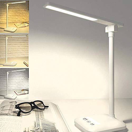 OUSENR Lámpara De Mesa Led De 5W Lámpara De Escritorio Plegable Giratorio Regulable Cuidado Ocular Touch-Sensitive Controlador Led Lámpara De Mesa Puerto De Carga Usb Regalos De Año Nuevo