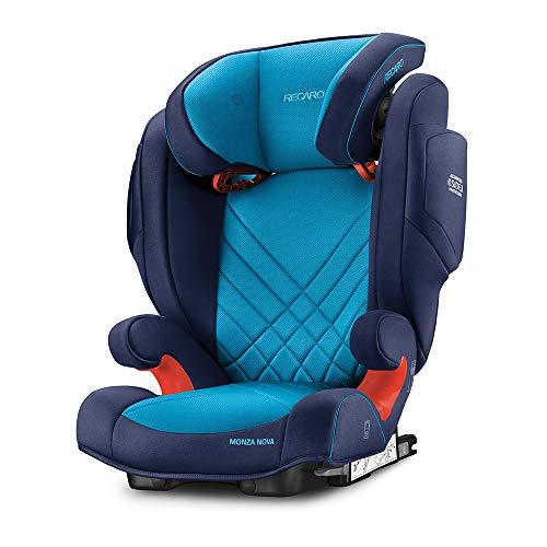 Recaro Kids, Monza Nova 2 SF Kindersitz für Kinder von 15-36 kg, Gruppe 2-3, für Kinder von 3,5 bis 12 Jahren, für Autos mit und ohne ISOFIX-System, Integriertes Soundsystem, Core Xenon Blue