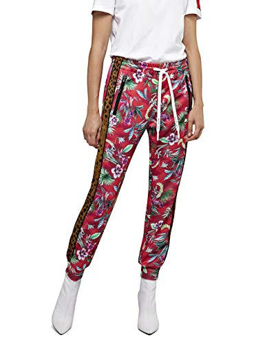 REPLAY W8870b.000.72044 Pantalones, Multicolor (Multicolor Flowers 10), 42 (Talla del Fabricante: Large) para Mujer