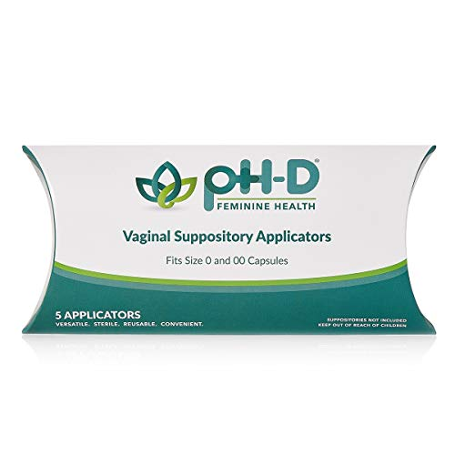 pH-D Feminine Health Support Vaginal Suppository Applicators, Ideal for Boric Acid Suppositories, Reusable, Fits Most Vaginal Suppositories, Made in The USA, 5 Count