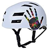 Casco Bici YDHWWSH Casco Da Bicicletta Ultraleggero Stampato Integralmente Cycling Helmet Mountain Road Mtb Bike Helmet Abs-eps M (54-57cm) Bianco