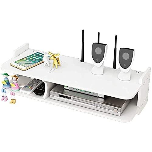 PWLDD Estante Multifunción para Decodificadores De TV La Sala De Estar Muestra El Soporte De Almacenamiento del Enrutador Estante WiFi Doméstico Sin Perforaciones Caja De Almacenamiento WiFi,Large