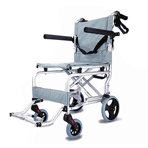 Fire cloud Lichte transportstoel met vergrendelbare handrem, breedte zitting, inklapbare rolstoel voor transport en opslag